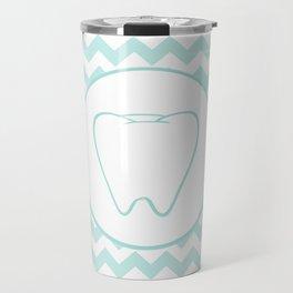 Chevron Tooth Travel Mug