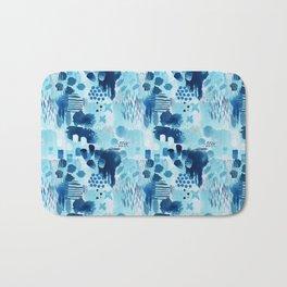 Study in blue, watercolor Bath Mat