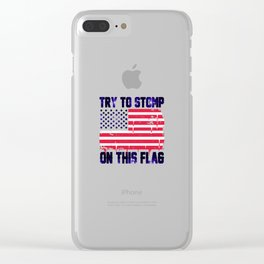 Old Glory Deserves Better! Clear iPhone Case
