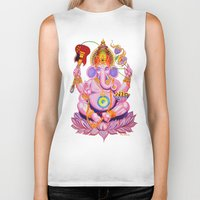 ganesh Biker Tanks featuring Ganesh by Jared Bretholtz