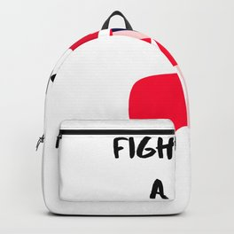Fight Like A Girl Ginger Woman Backpack