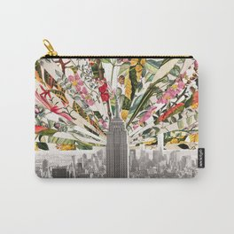 Vintage Blooming New York Carry-All Pouch