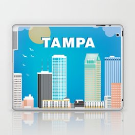 Tampa, Florida - Skyline Illustration by Loose Petals Laptop & iPad Skin