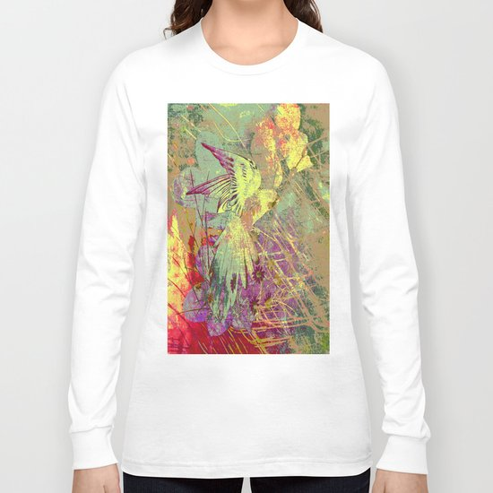 Parrot. On Front Page. Long Sleeve T-shirt