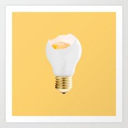 Eggcellent idea Art Print