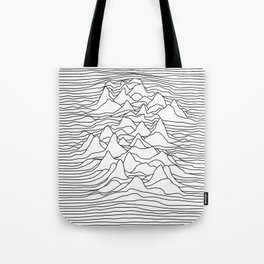 Black and white graphic - sound wave illustration Tote Bag