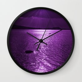 Ultraviolet Lakescene Scandinavian View #decor #society6 #homedecor Wall Clock