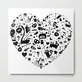 Halloween Heart Metal Print