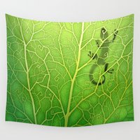 lizard Wall Tapestries featuring lizard by Antracit