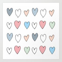 The hearts Art Print