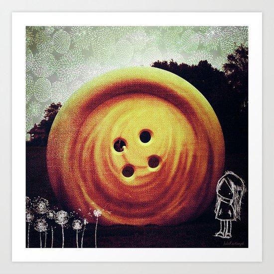 UFO button Art Print