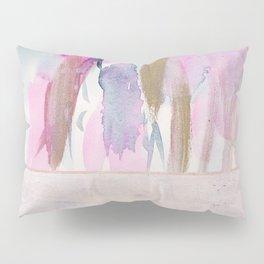 Rose Blush, Dreamy Pink And Blue Modern Abstract Art Pillow Sham