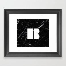 Black Marble - Alphabet B Framed Art Print