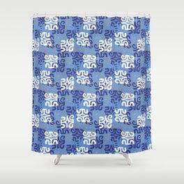 Swanky Mo Blue Shower Curtain