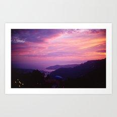French Riviera Sunset Art Print