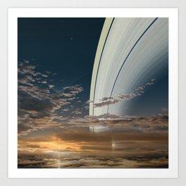 The Rings of Saturn Art Print