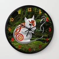 mouse Wall Clocks featuring Mouse by Knot Your World