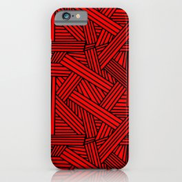 Sketchy Abstract (Black & Red Pattern) iPhone Case