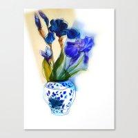 iris Canvas Prints featuring Iris by Aelwen