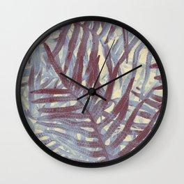 Scanned Ferns Wall Clock