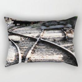 Abandoned Rail Tracks Rectangular Pillow