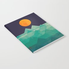 The ocean, the sea, the wave - night scene Notebook