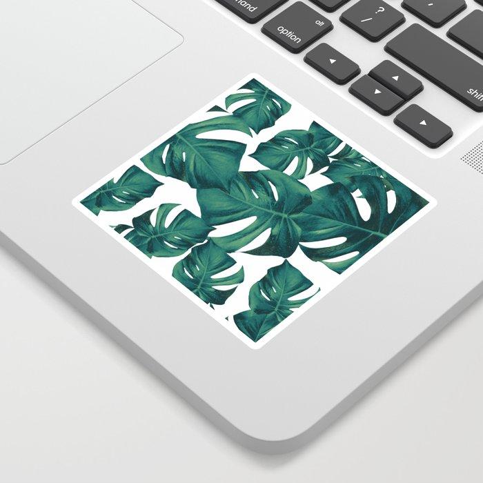 Monstera Leaves Pattern #3 #tropical #decor #art #society6 Sticker