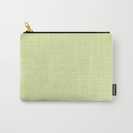 Lime Green Greek Key Pattern  Carry-All Pouch