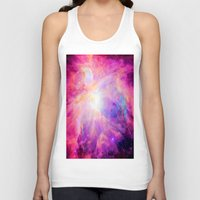 nebula Tank Tops featuring Pink Purple Orion NebulA by 2sweet4words Designs