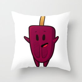 happy ice lolly Throw Pillow