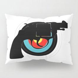 Hand Gun Target Pillow Sham