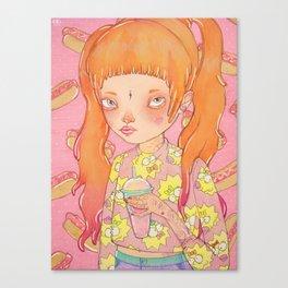 Orange Fluffy Canvas Print