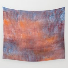 Orange Color Fog Wall Tapestry