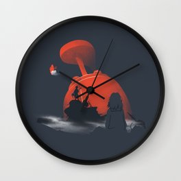 Furi Kuri - Nothing amazing happens here Wall Clock
