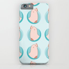 Circle Eared Seal Pattern iPhone Case