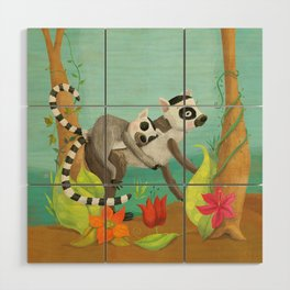 Babies on Backs Wood Wall Art