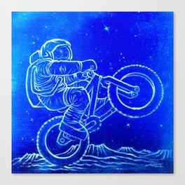 Astronaut Bicycle 1 Canvas Print