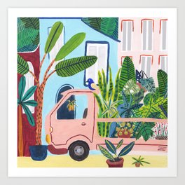 Jungle Delivery Art Print