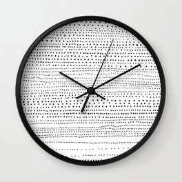 DOTS - Poetry of the Pen Series by Cooper and Colleen Wall Clock