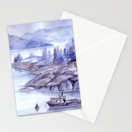 Fjord Monochrome Stationery Cards