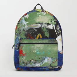 Finback Abstract Blue Green Backpack