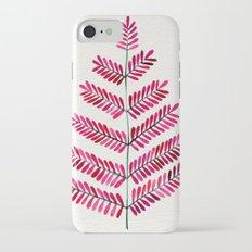 Pink Leaflets iPhone 7 Slim Case