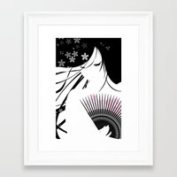 asian Framed Art Prints featuring Asian Obsession by DesignDinamique