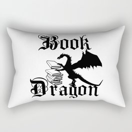 Book Dragon Rectangular Pillow