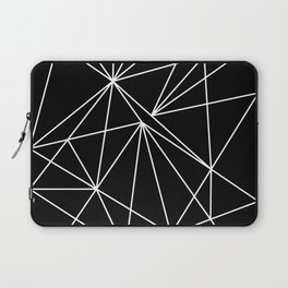 Geometric Abstract - Triangles #2 (White) Laptop Sleeve