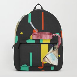 Coffee Pop Art Collage Good Morning Backpack