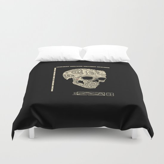 Skullography  Duvet Cover