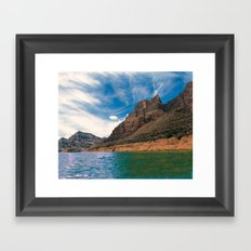 Canyon Waters Framed Art Print