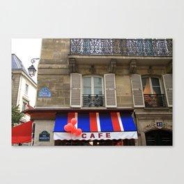 Red Balloons at Café Bonaparte Canvas Print
