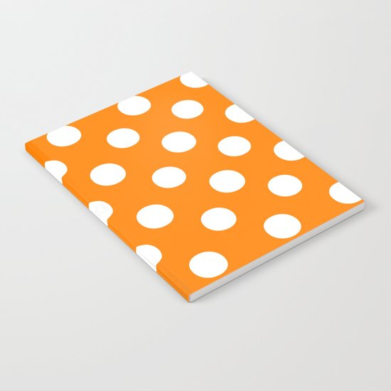 Polka Dots (White/Orange) Notebook